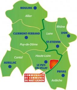 Région Auvergne pour le territoire du Haut-Lignon