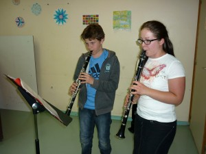 Cours de clarinette à lécole de musique du Haut-Lignon