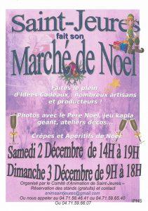 Affiche Marché de Noël Saint-Jeures