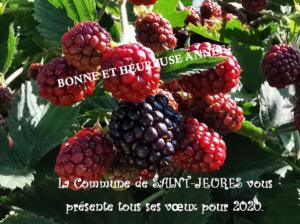 Carte voeux 2020 Saint-Jeures
